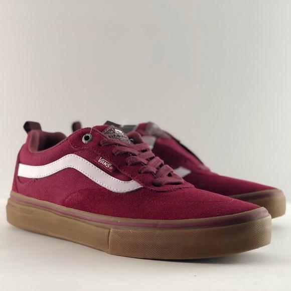 ace044914b Vans Kyle Walker Pro Burgundy White Gum Shoes